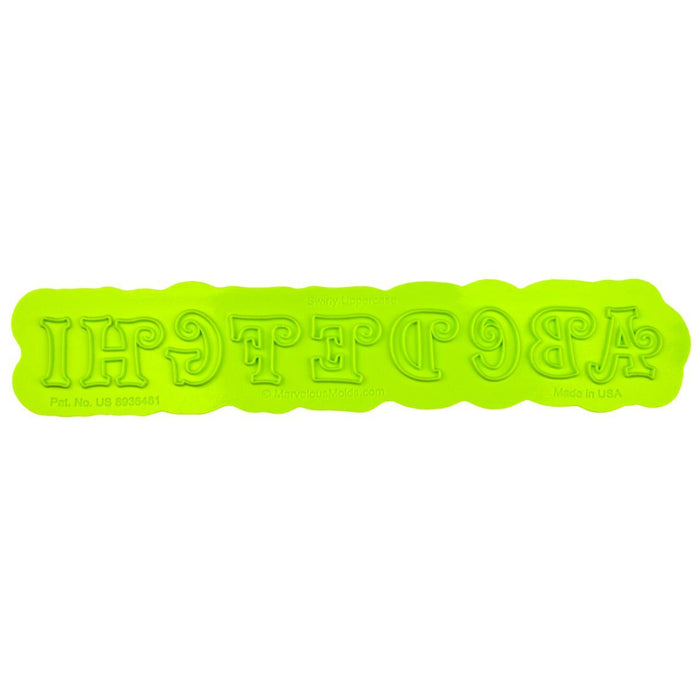 Swirly Uppercase Flexabet™ Mold