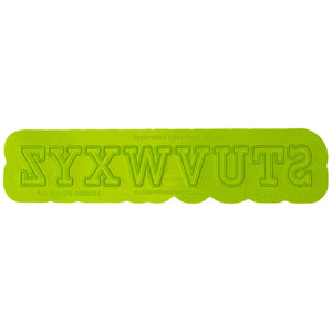 Typewriter Uppercase Flexabet™ Mold Marvelous Molds Silicone Mold - Bake Supply Plus