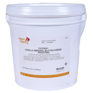 White Imperial Buttercream Icing 30lb. Bucket CSM: Henry & Henry Icing - Bake Supply Plus