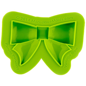 Vintage Bow Mold Marvelous Molds Silicone Mold - Bake Supply Plus
