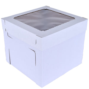 Tiered White Cake Box With Window  — All Sizes Whalen Packaging Box - Bake Supply Plus