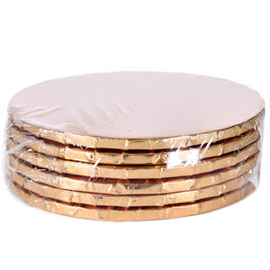 Gold Circle Cake Drums — All Sizes Whalen Packaging Cake Drum - Bake Supply Plus