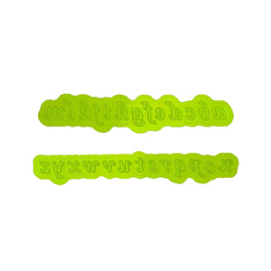 Calligraphy Lowercase Flexabet™ Mold Marvelous Molds Silicone Mold - Bake Supply Plus