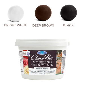 ChocoPan Modeling Chocolate — White, Brown, & Black Satin Ice Modeling Chocolate - Bake Supply Plus