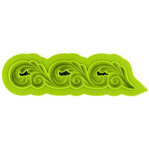 Scroll Border Mold Marvelous Molds Silicone Mold - Bake Supply Plus