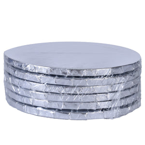 Silver Circle Cake Drums — All Sizes Whalen Packaging Cake Drum - Bake Supply Plus