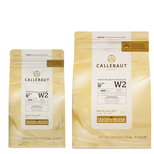 Callebaut White Chocolate N° W2 Callebaut Chocolate Melts - Bake Supply Plus