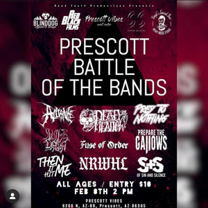February 8, 2020 @ 2 pm - PRESCOTT BATTLE OF THE BANDS