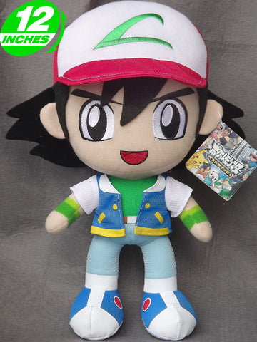 Pokemon Ash Plush Doll PNPL8001 - Anime Wholesale From China