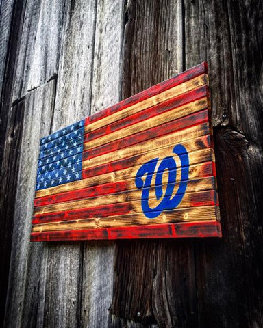Distressed Washington Nationals Flag