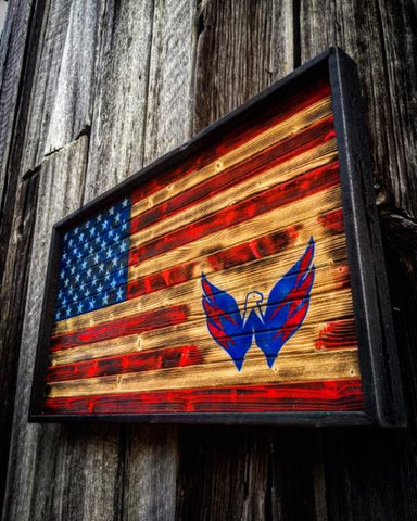 Distressed Washington Capitals Flag