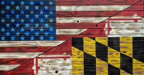 Extra Large Rustic/Maryland Flag