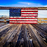 Extra Large Rustic American Flag
