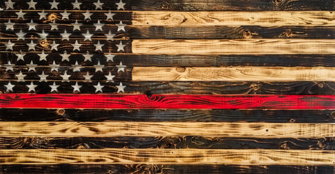 "Charred ""Honor"" Flag, Colored Stripe"