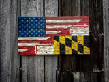 American/Maryland Flag