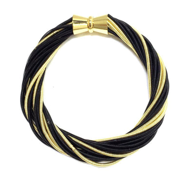Black/Gold Twist Bracelet