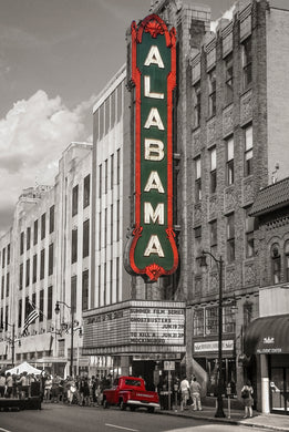 Alabama Marquis and Red Truck - Photograph - Birmingham, Alabama
