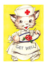 Load image into Gallery viewer, Cat Nurse Get Well
