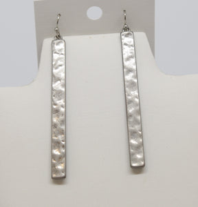 Hammered Silver Dangle Earrings
