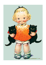 Load image into Gallery viewer, Little Girl w/ Kittens