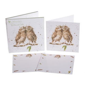 'Birds of a Feather' Owl Notecard Pack