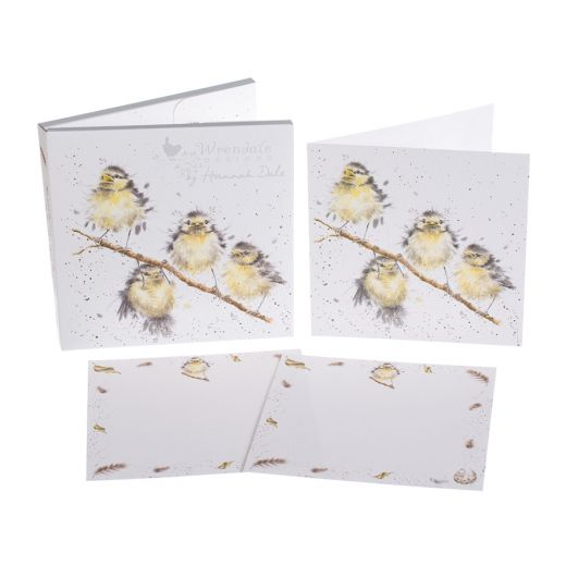 'Hanging Out with Friends' Bluetits Notecard Pack