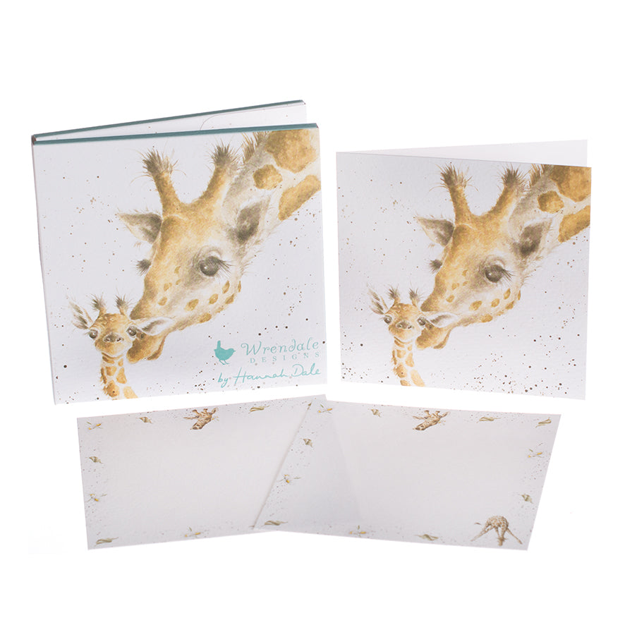 'First Kiss' Giraffe Notecard Pack
