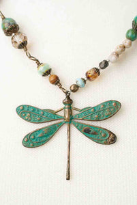 Rustic Creek Dragonfly Necklace