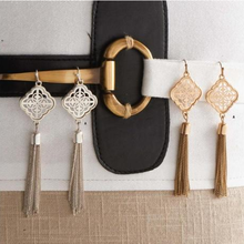 Load image into Gallery viewer, Gold Tassle Dangle Earrings
