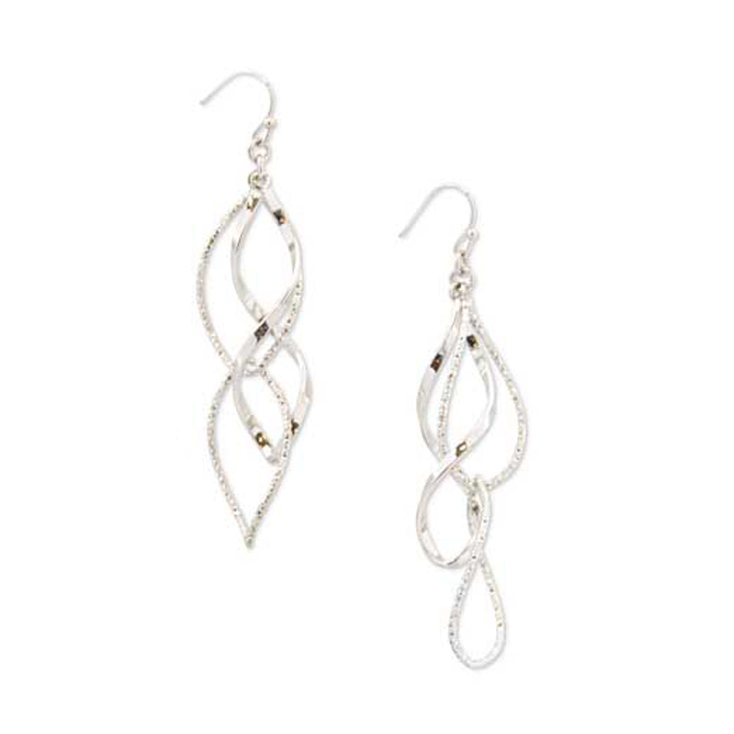 Silver Layed Wire Earring