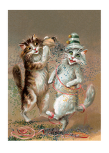 Load image into Gallery viewer, Two Cats Dancing