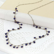 Load image into Gallery viewer, Vintage Enamel Dot Necklace - Navy