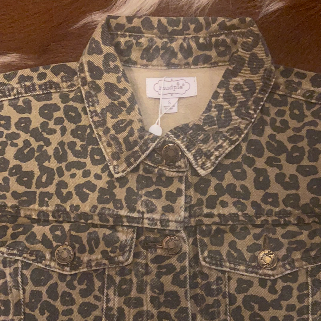 Mud Pie leopard Jacket