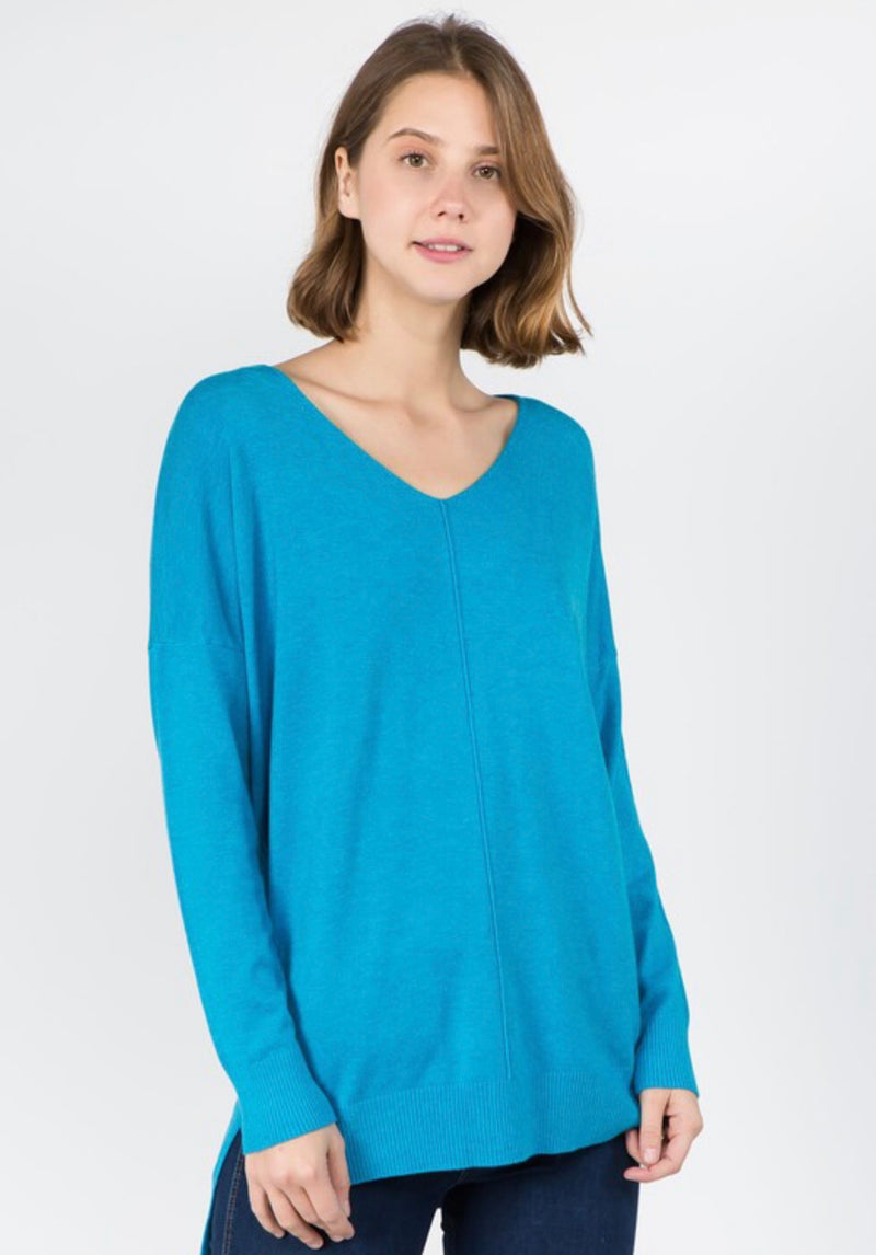 Wear it Everyday V-Neck Tunic Soft Sweater