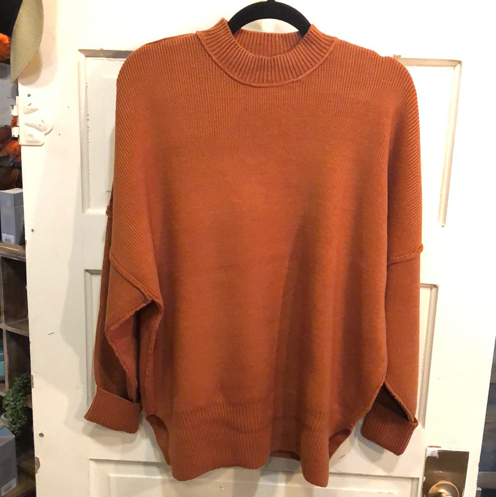 Crew Neck Knit Oversized Sweater