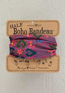 purple mexican boho bandeau