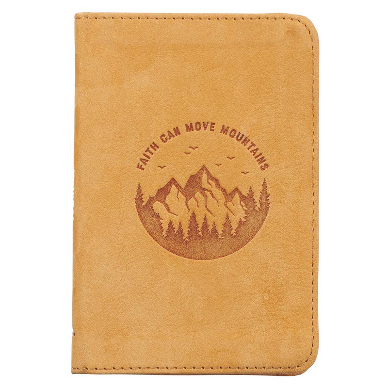 Journal Pocket Leather Faith Can Move Mountains