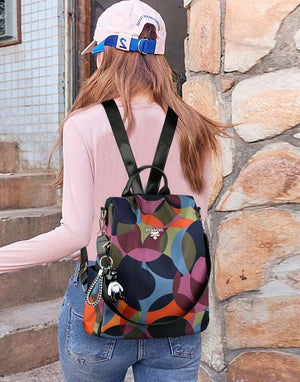 Retro Multi-Functional Anti Theft Backpack