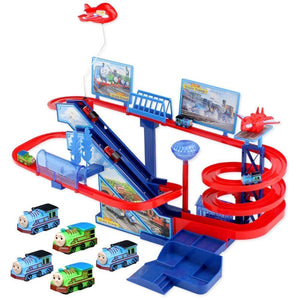 Electric Trains Set With Music And Lighting Including 5 Cars Trackmaster Climbing Stairs Kids Gifts
