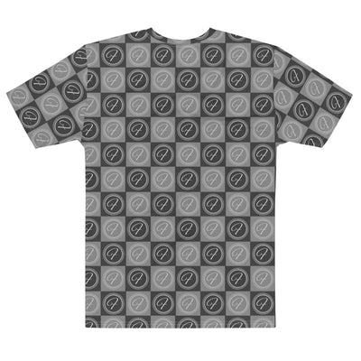FRILACÈ Men's The Grey Chess Board T-shirt