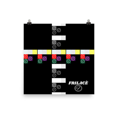 FRILACÈ Building Blocks Photo paper poster