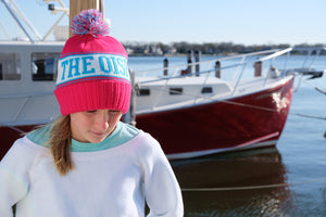 The OisF Pom Pom Beanie (Women/Youth) - Hot Pink