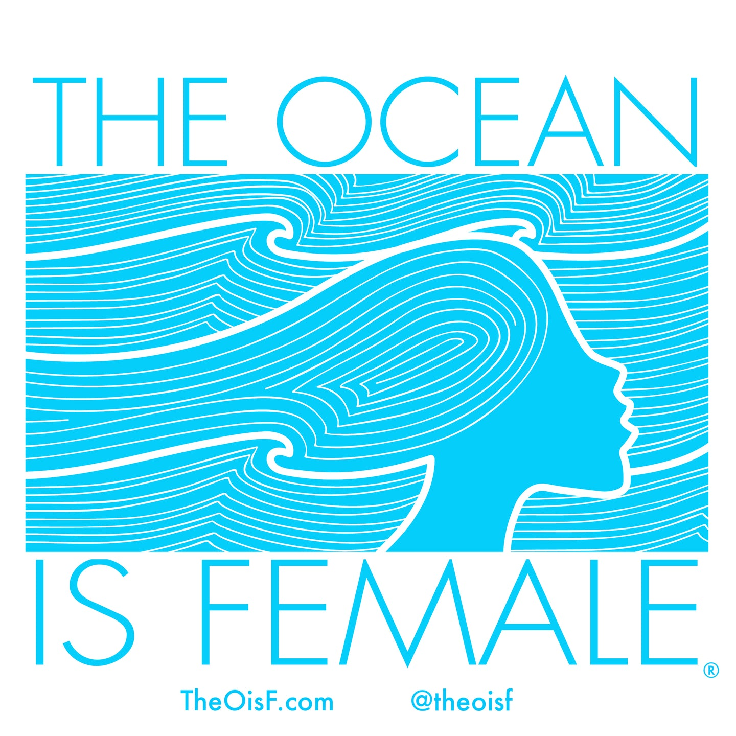 The Ocean Is Female Sticker