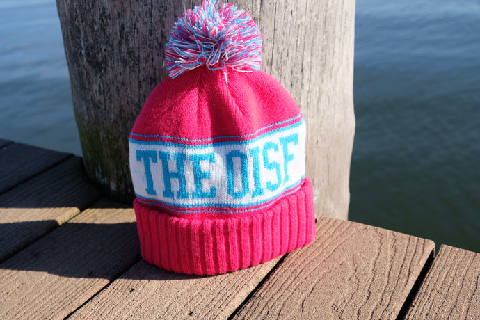 NEW! The OisF Pom Pom Beanie (Women/Youth) - Hot Pink