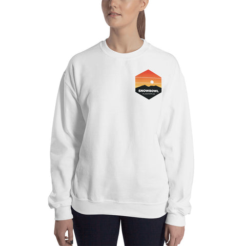 Sunset Pocket Logo Ladies Sweatshirt
