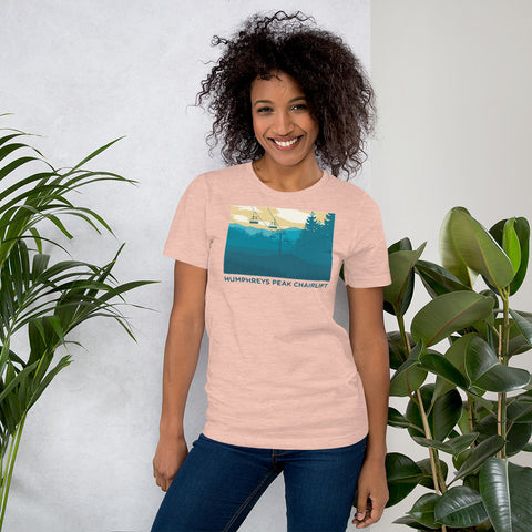 Humphreys Peak Chairlift Short-Sleeve Ladies T-Shirt