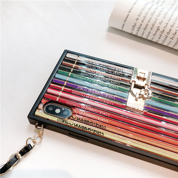 (Buy 2 free shipping) Rainbow pen iphone case