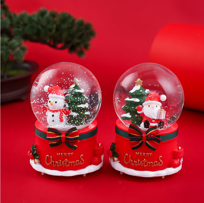 Santa Crystal Ball Christmas Snow Globe