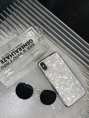 2019 New Bling -Shaped Crystal Case For iPhone With Grade