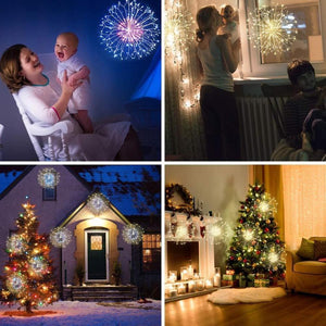 Christmas-LED Starburst Lights with Remote, 8 Modes & Waterproof